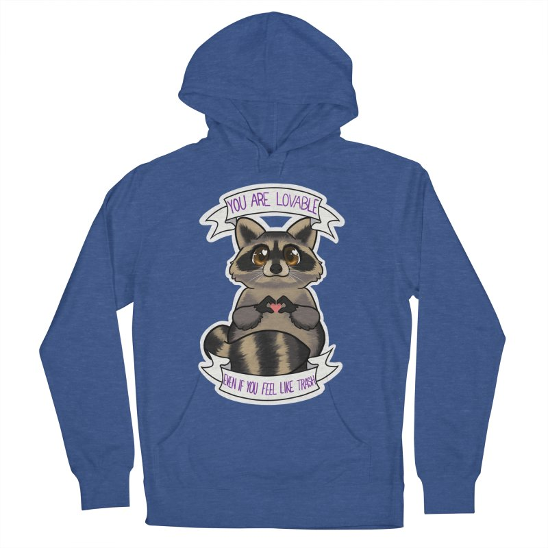 Raccoon Men's French Terry Pullover Hoody by AnimeGravy