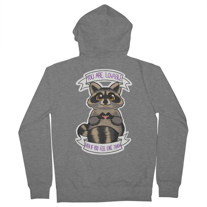 Raccoon Women's French Terry Zip-Up Hoody by AnimeGravy