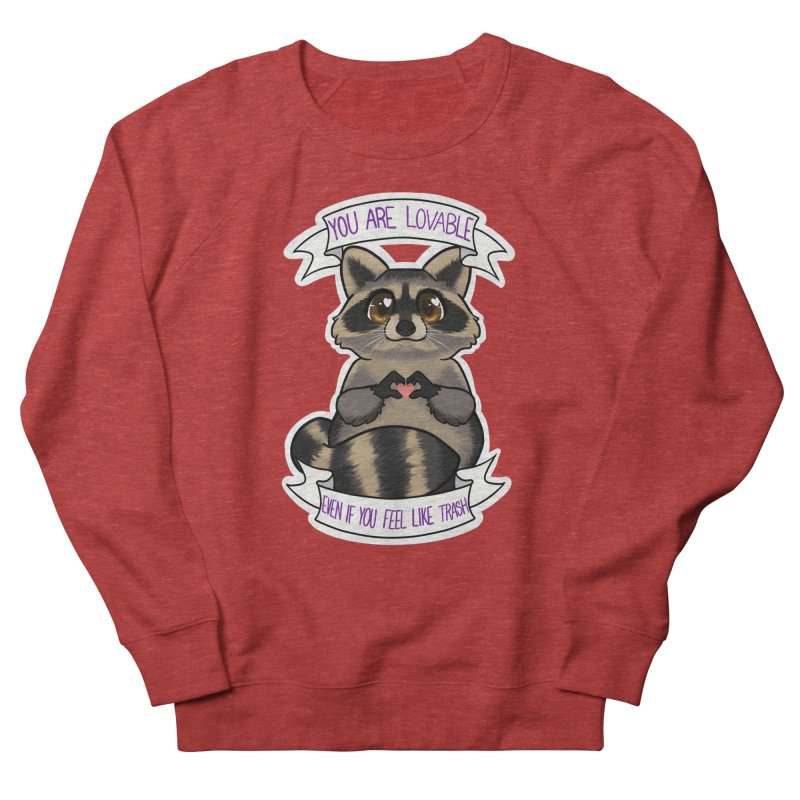 Raccoon Women's French Terry Sweatshirt by AnimeGravy