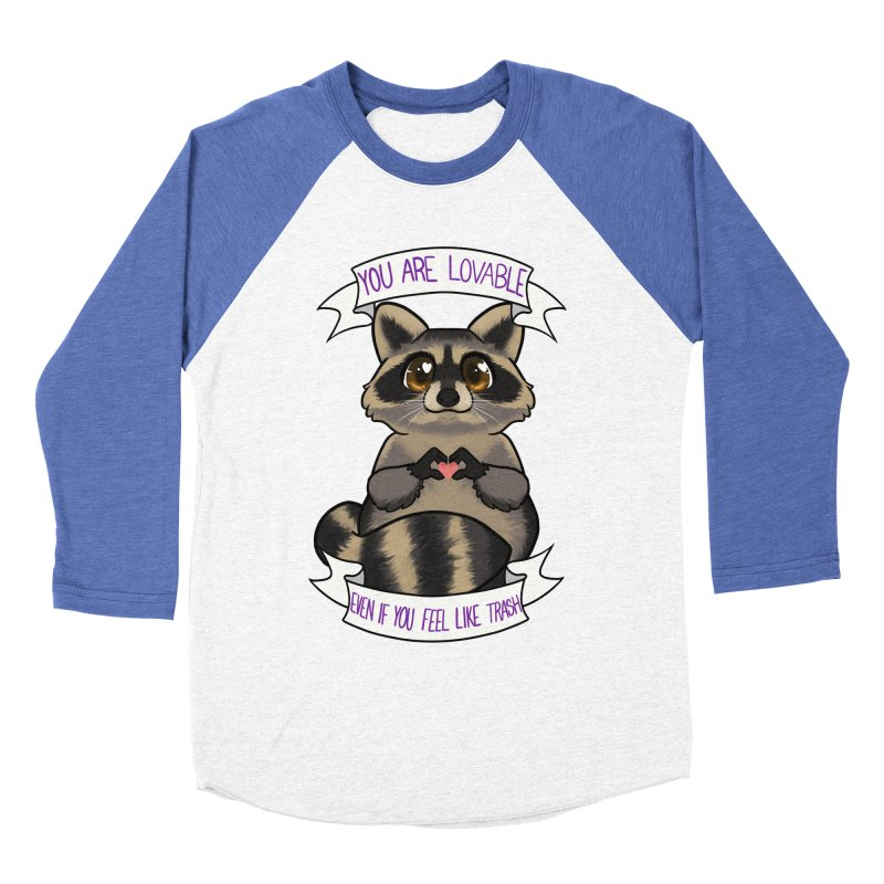 Raccoon Women's Baseball Triblend Longsleeve T-Shirt by AnimeGravy