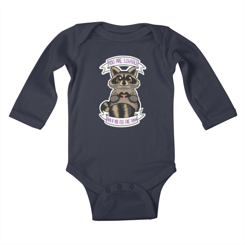 Raccoon Kids Baby Longsleeve Bodysuit by AnimeGravy