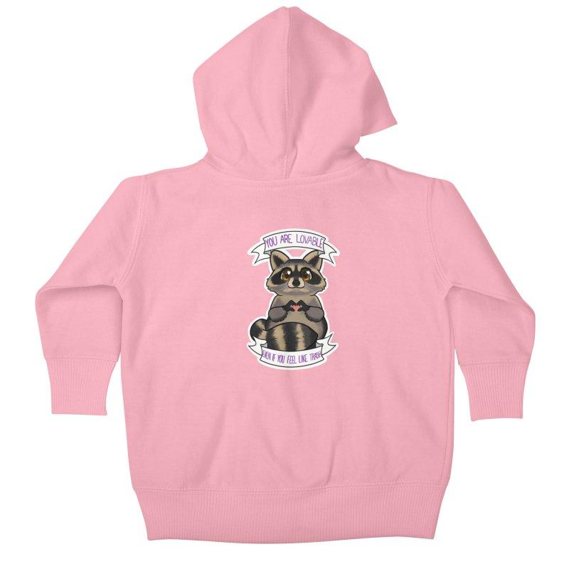 Raccoon Kids Baby Zip-Up Hoody by AnimeGravy