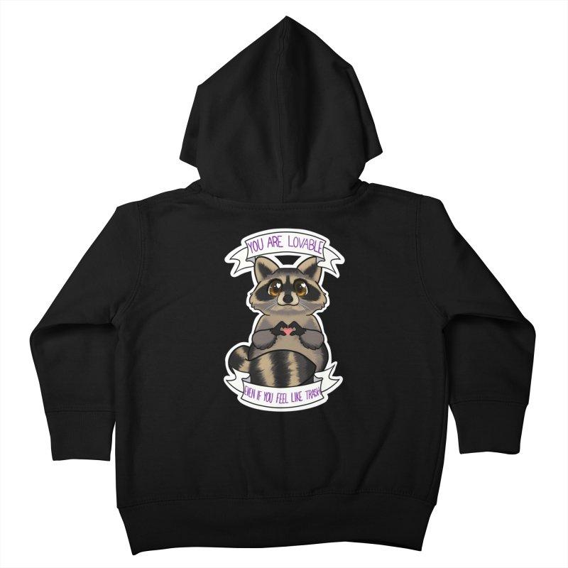 Raccoon Kids Toddler Zip-Up Hoody by AnimeGravy