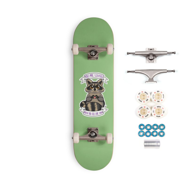 Raccoon Accessories Complete - Premium Skateboard by AnimeGravy