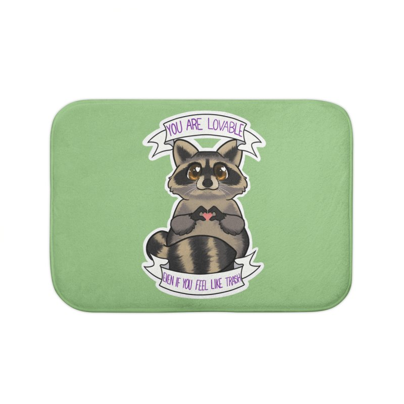 Raccoon Home Bath Mat by AnimeGravy