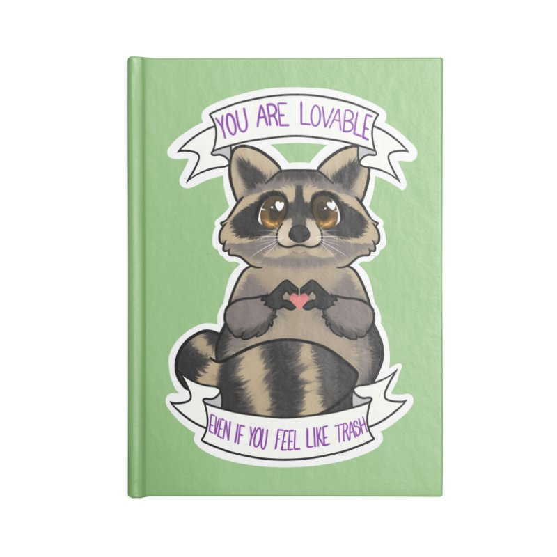 Raccoon Accessories Blank Journal Notebook by AnimeGravy