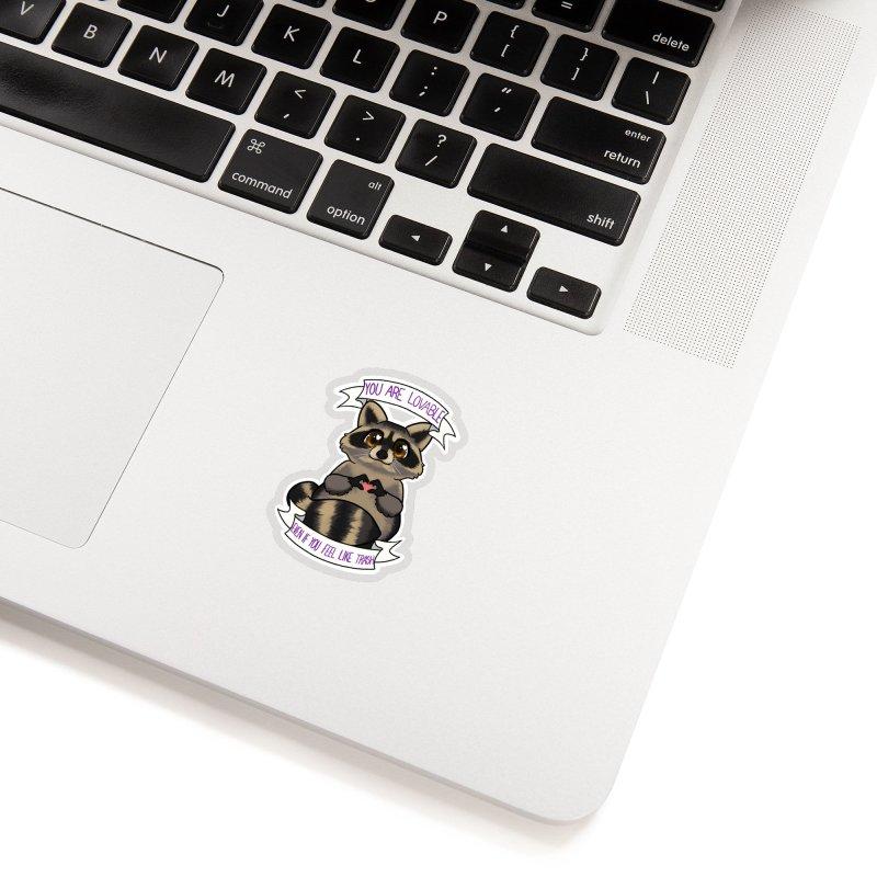 Raccoon Accessories Sticker by AnimeGravy