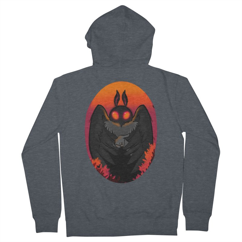 Mothman Women's French Terry Zip-Up Hoody by AnimeGravy