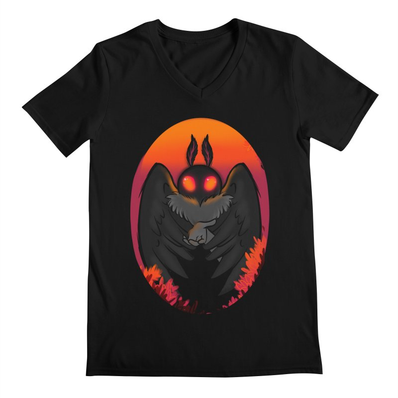 Mothman Men's Regular V-Neck by AnimeGravy