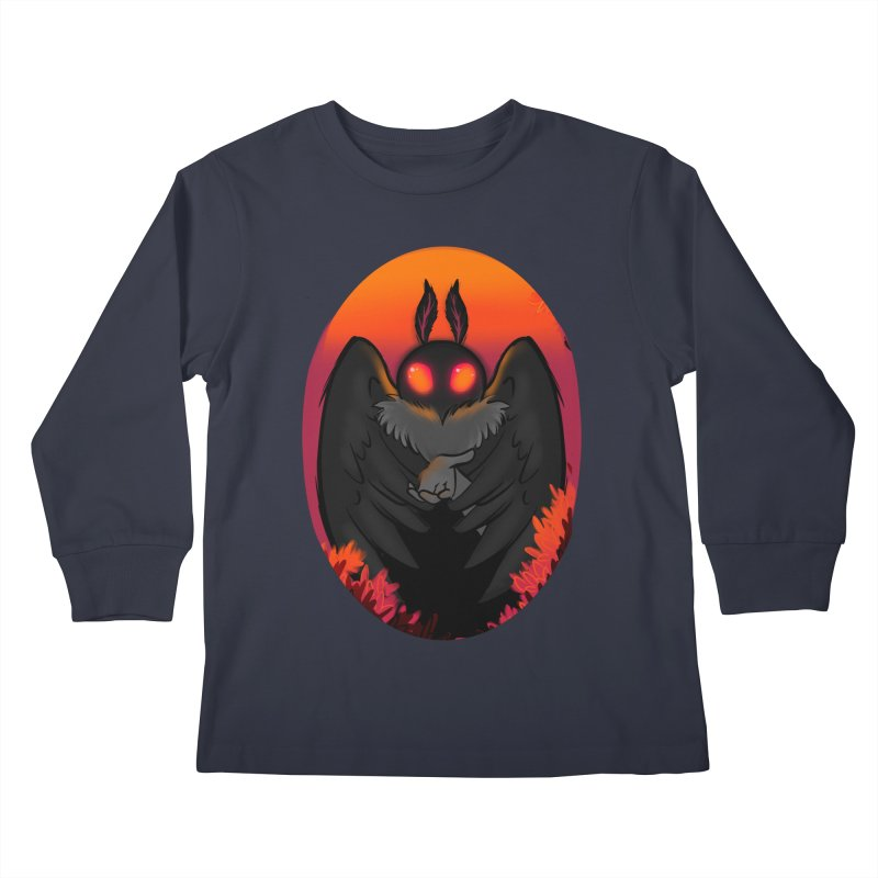 Mothman Kids Longsleeve T-Shirt by AnimeGravy