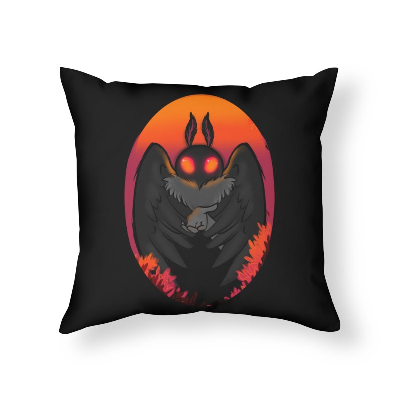 Mothman Home Throw Pillow by AnimeGravy