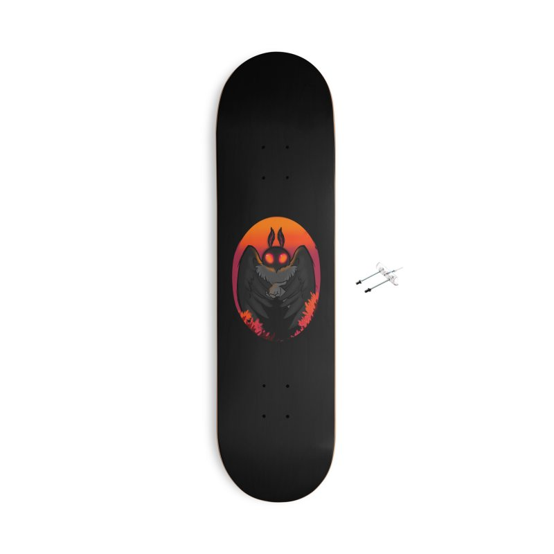 Mothman Accessories With Hanging Hardware Skateboard by AnimeGravy