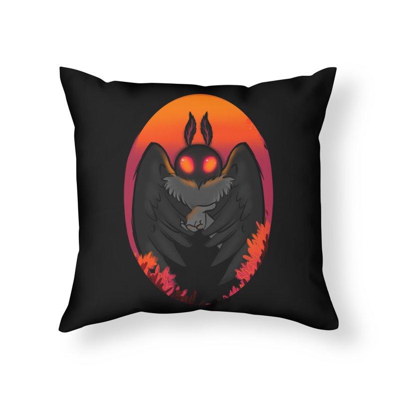 Mothman Home Throw Pillow by AnimeGravy