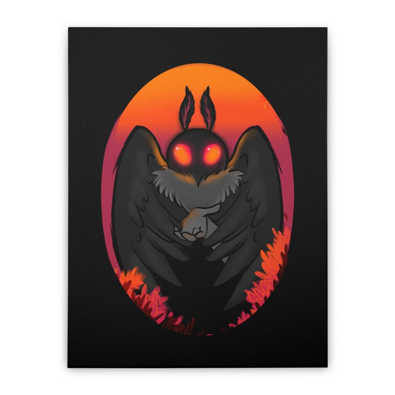 Mothman Home Stretched Canvas by AnimeGravy