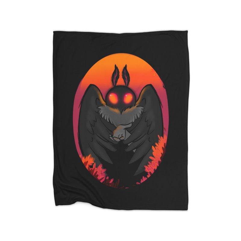 Mothman Home Fleece Blanket Blanket by AnimeGravy