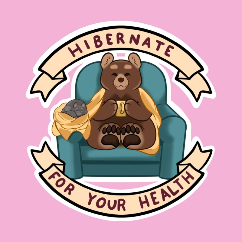Hibernate for your health Home Bath Mat by AnimeGravy