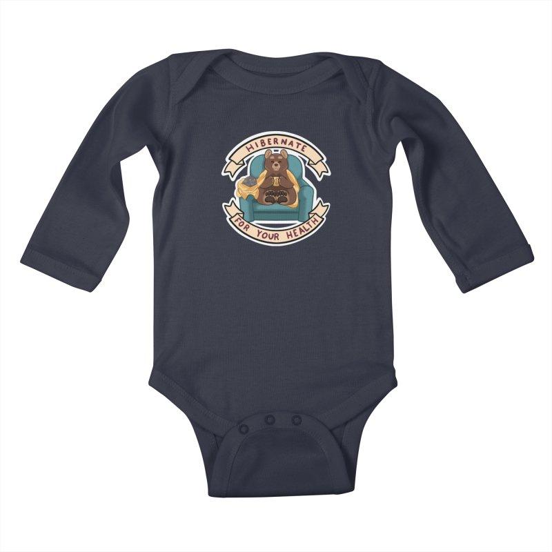 Hibernate for your health Kids Baby Longsleeve Bodysuit by AnimeGravy