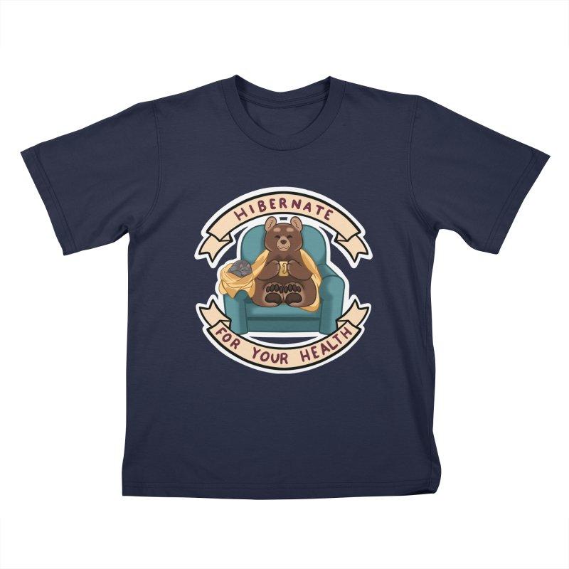 Hibernate for your health Kids T-Shirt by AnimeGravy