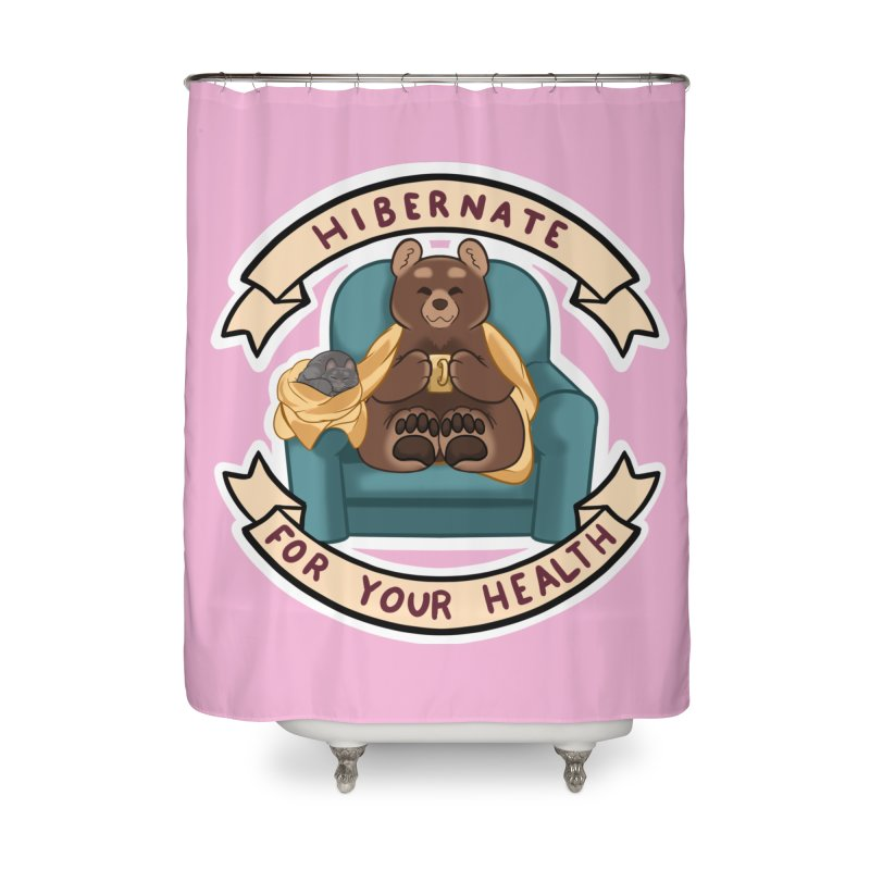 Hibernate for your health Home Shower Curtain by AnimeGravy