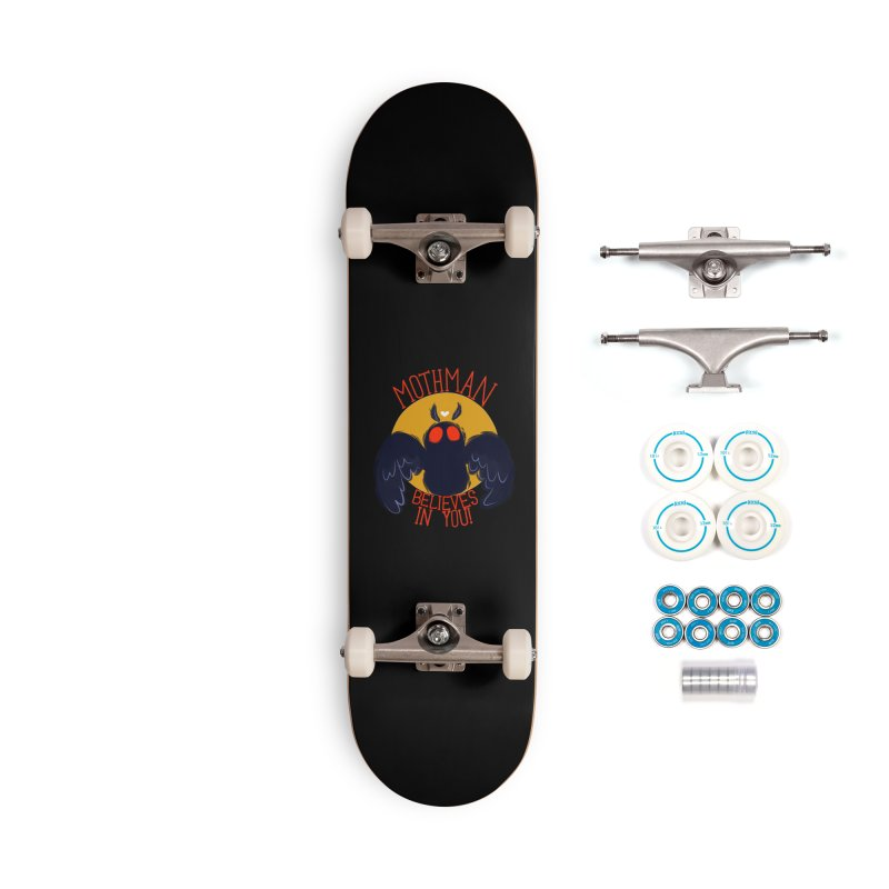 Mothman believes in you Accessories Complete - Basic Skateboard by AnimeGravy