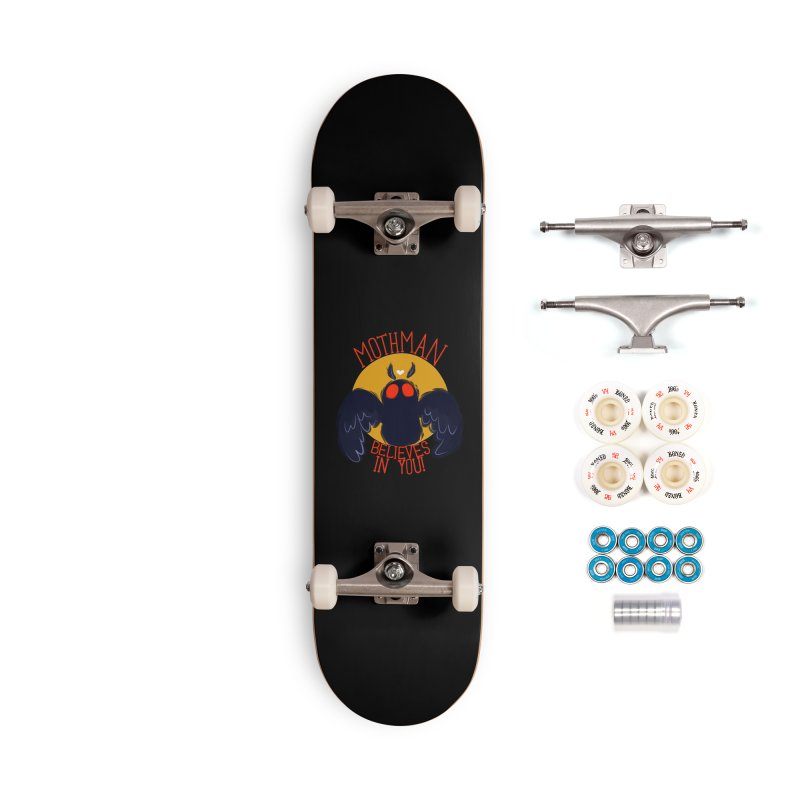 Mothman believes in you Accessories Complete - Premium Skateboard by AnimeGravy