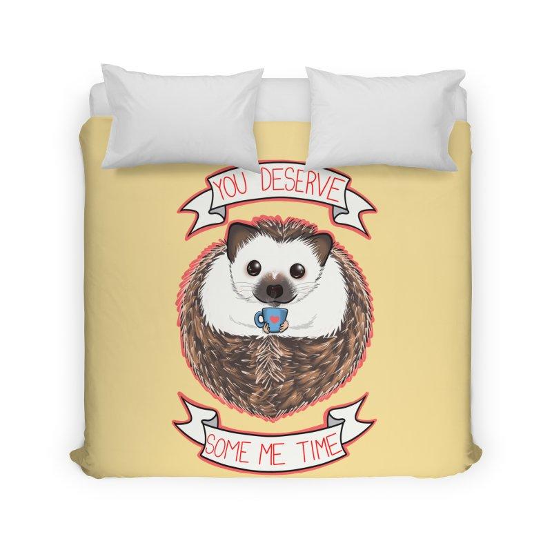 Some Me Time Hedgehog Home Duvet by AnimeGravy