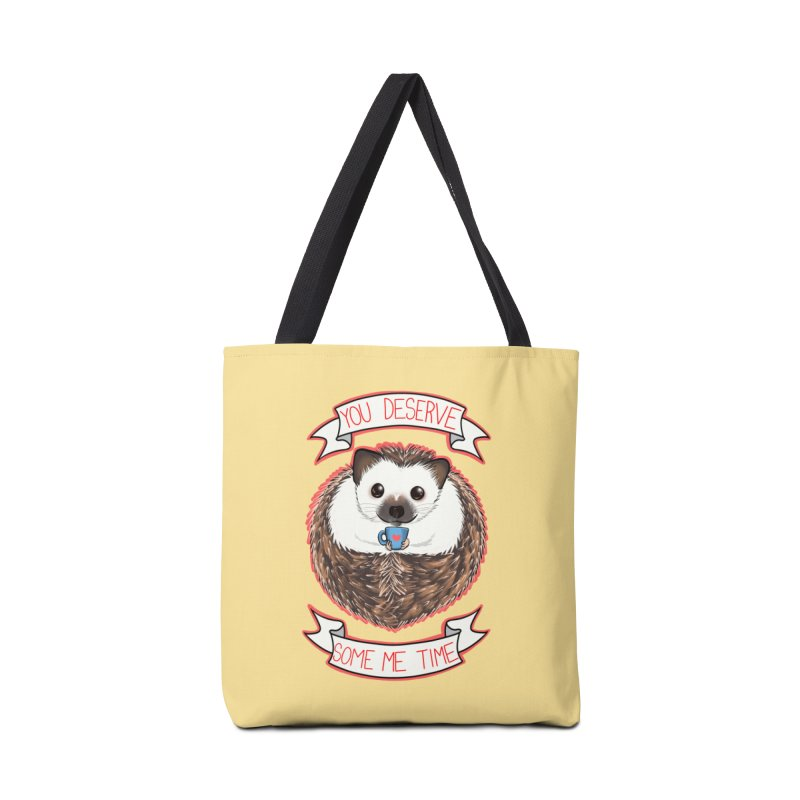 Some Me Time Hedgehog Accessories Tote Bag Bag by AnimeGravy