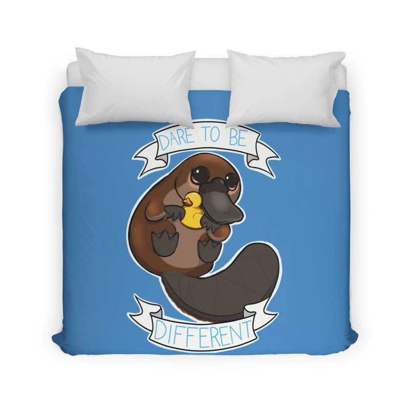 Dare to be Different Platypus Home Duvet by AnimeGravy