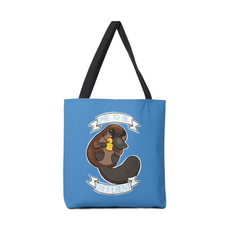 Dare to be Different Platypus Accessories Tote Bag Bag by AnimeGravy