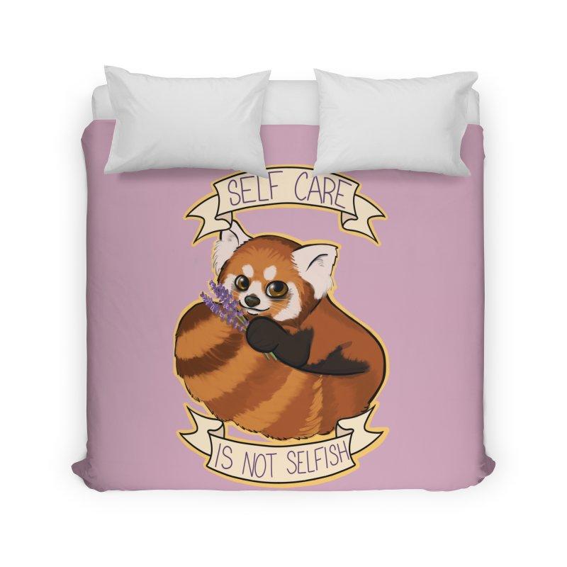 Self Care is not Selfish Red Panda Home Duvet by AnimeGravy