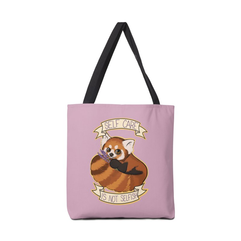 Self Care is not Selfish Red Panda Accessories Tote Bag Bag by AnimeGravy