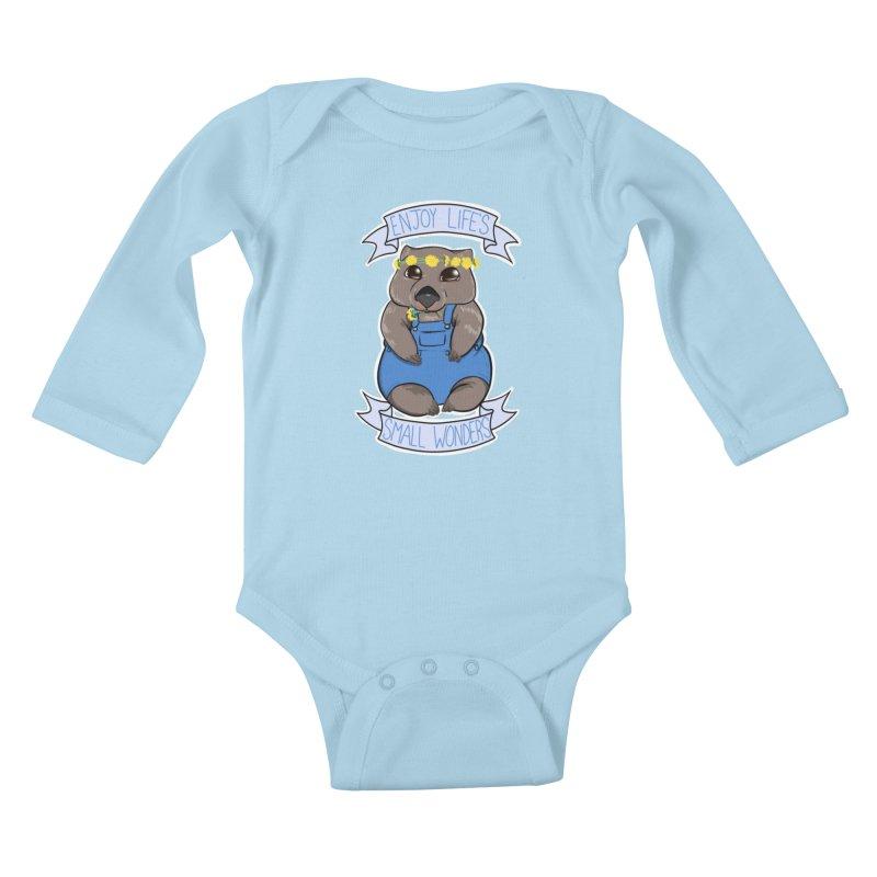 Small Wonders Kids Baby Longsleeve Bodysuit by Animegravy's Artist Shop