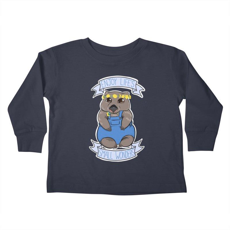 Small Wonders Kids Toddler Longsleeve T-Shirt by Animegravy's Artist Shop