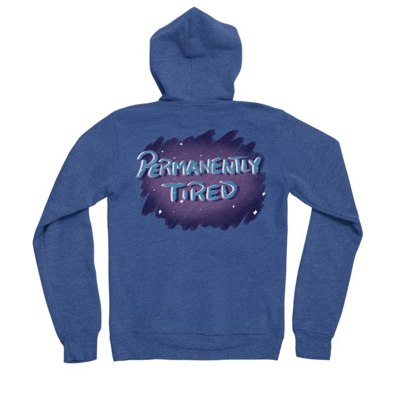 Permanently Tired Men's Sponge Fleece Zip-Up Hoody by Animegravy's Artist Shop