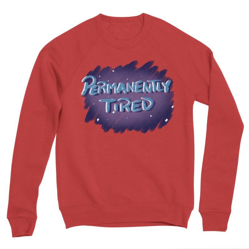 Permanently Tired Men's Sponge Fleece Sweatshirt by Animegravy's Artist Shop