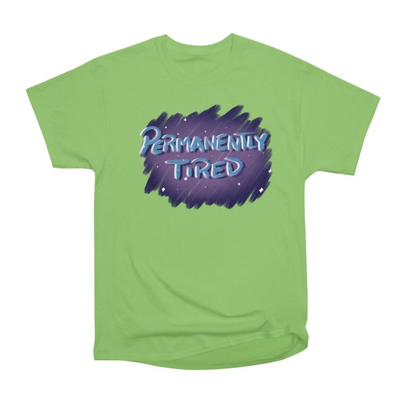 Permanently Tired Men's Heavyweight T-Shirt by Animegravy's Artist Shop