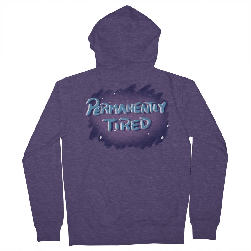 Permanently Tired Men's French Terry Zip-Up Hoody by Animegravy's Artist Shop