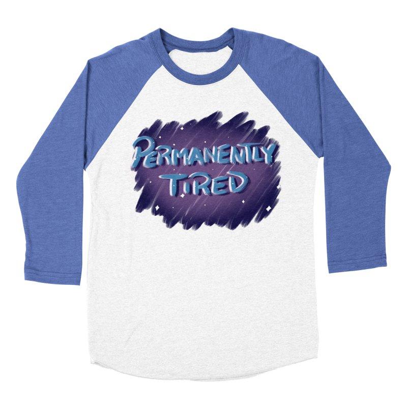 Permanently Tired Women's Baseball Triblend Longsleeve T-Shirt by Animegravy's Artist Shop