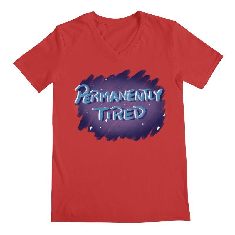 Permanently Tired Men's Regular V-Neck by Animegravy's Artist Shop