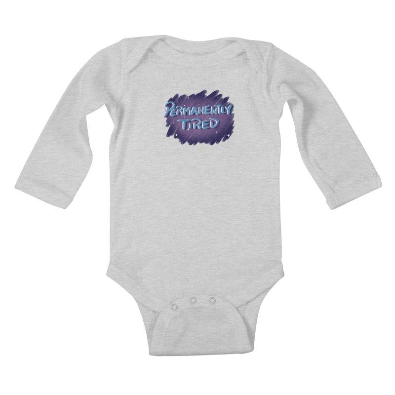 Permanently Tired Kids Baby Longsleeve Bodysuit by Animegravy's Artist Shop