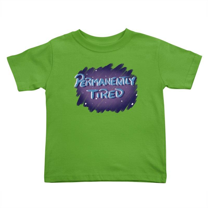 Permanently Tired Kids Toddler T-Shirt by Animegravy's Artist Shop