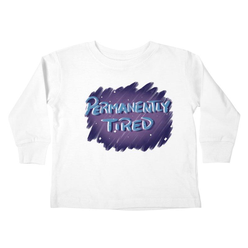Permanently Tired Kids Toddler Longsleeve T-Shirt by Animegravy's Artist Shop