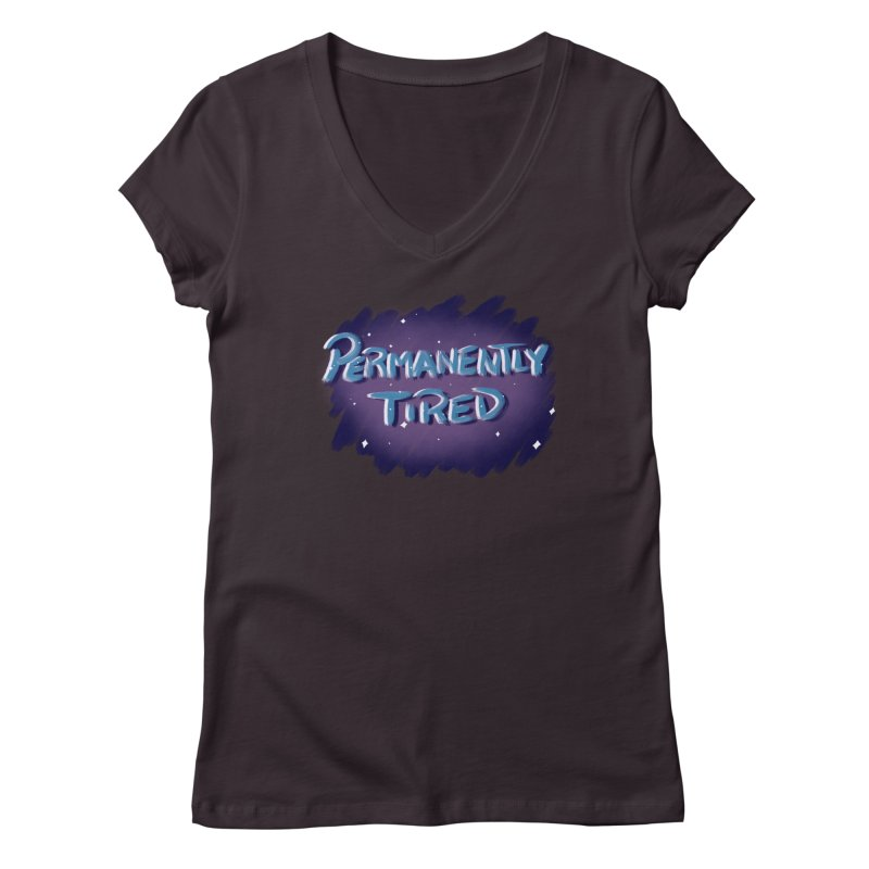 Permanently Tired Women's Regular V-Neck by Animegravy's Artist Shop