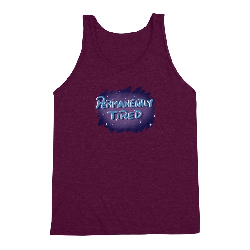 Permanently Tired Men's Triblend Tank by Animegravy's Artist Shop
