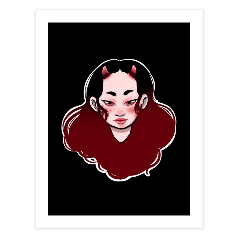 Demon girl Home Fine Art Print by Animegravy's Artist Shop