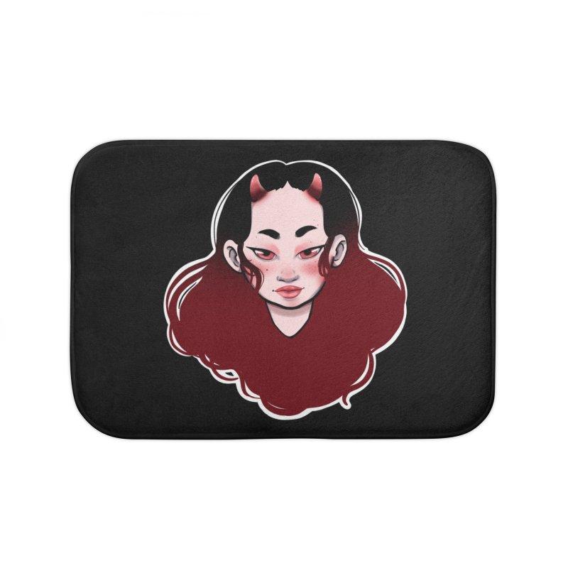Demon girl Home Bath Mat by Animegravy's Artist Shop