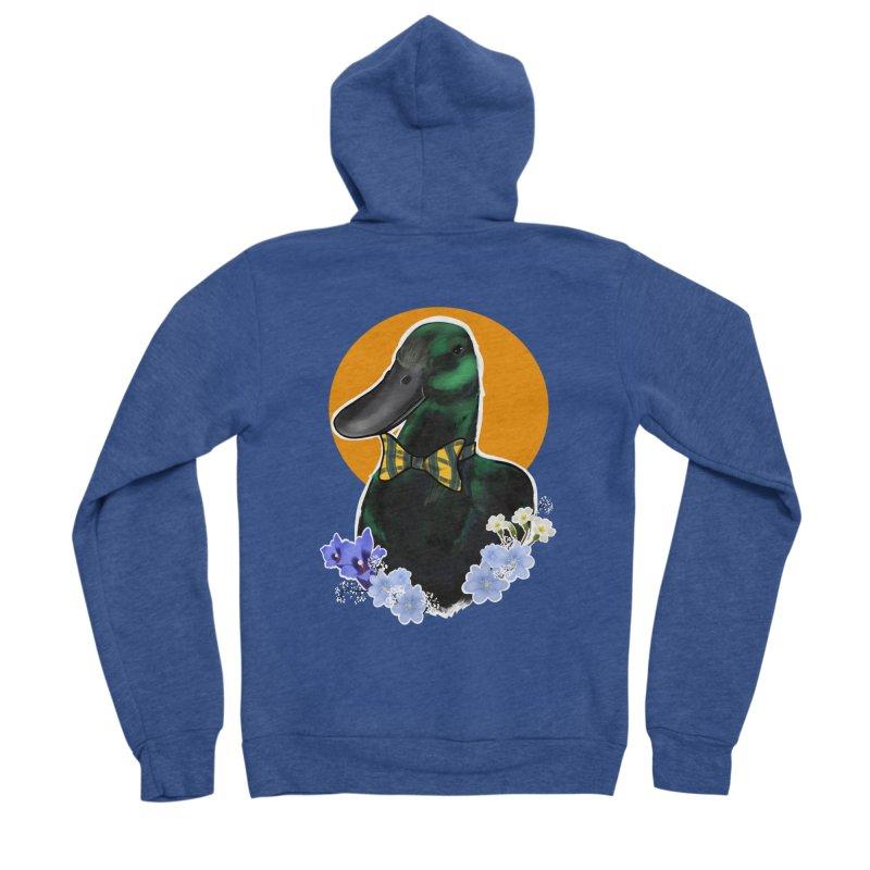 Snipps the duck Men's Sponge Fleece Zip-Up Hoody by Animegravy's Artist Shop