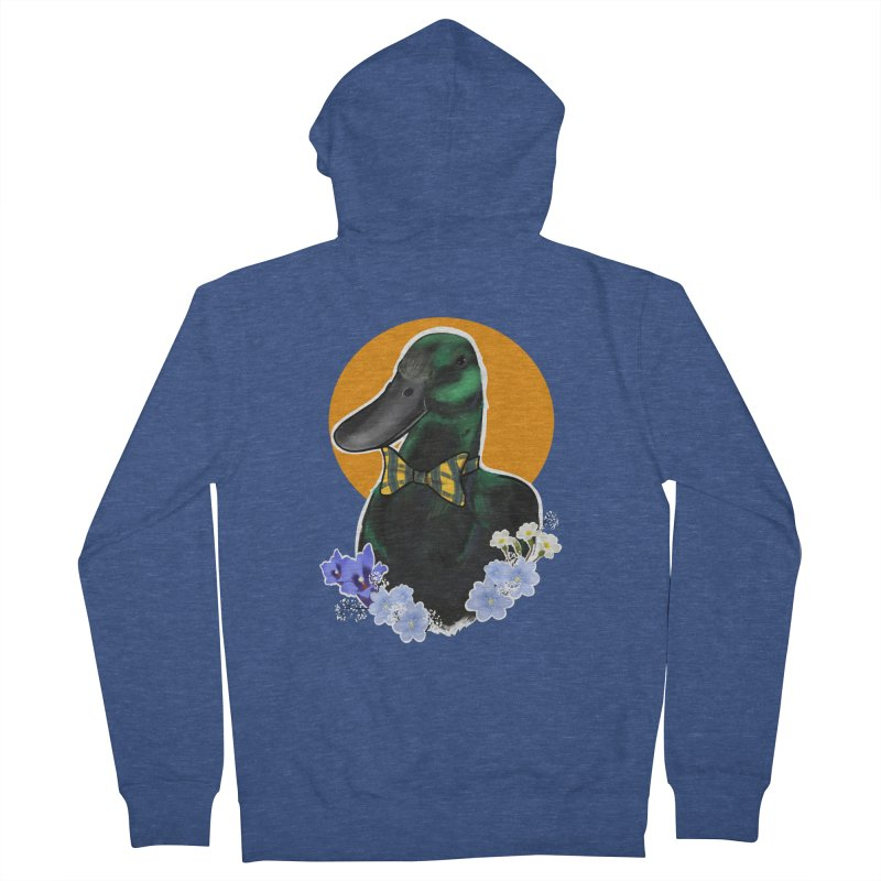 Snipps the duck Men's French Terry Zip-Up Hoody by Animegravy's Artist Shop