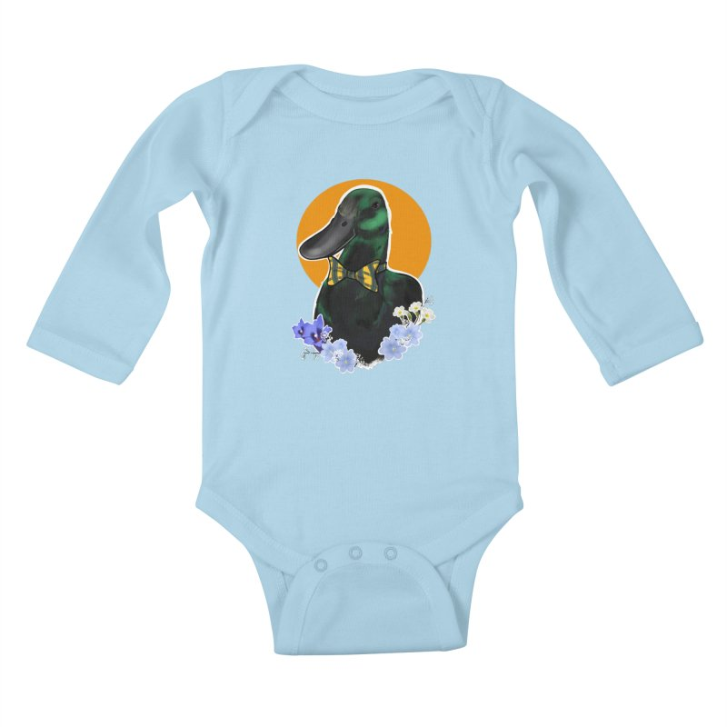 Snipps the duck Kids Baby Longsleeve Bodysuit by Animegravy's Artist Shop