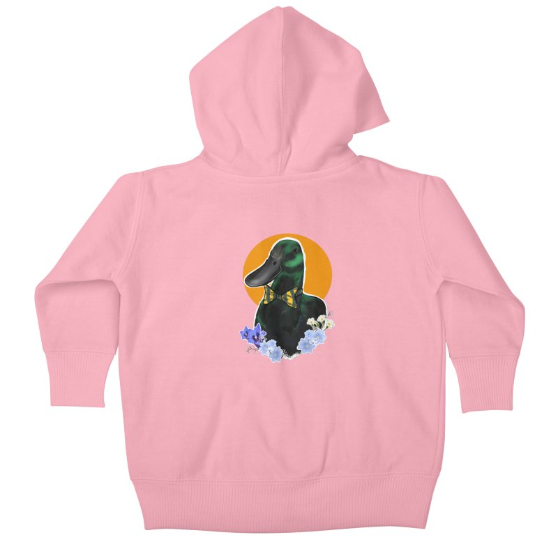 Snipps the duck Kids Baby Zip-Up Hoody by Animegravy's Artist Shop